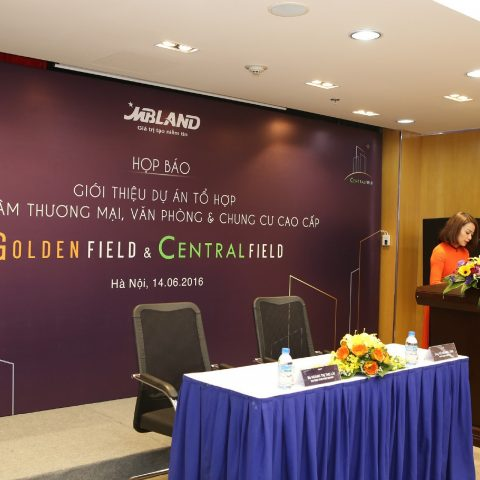 Press conference: Introduce Golden Field and Central Field complex building