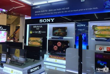 Construct Sony's electronic display at Vinpro Thai Nguyen