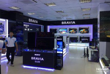 Góc trưng bày điện tử của Sony  tại Pico Việt Trì 2
